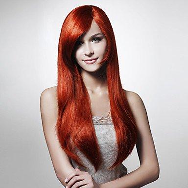 Sin tapa de moda color Silky recto peluca de pelo varios colores disponibles, # 350