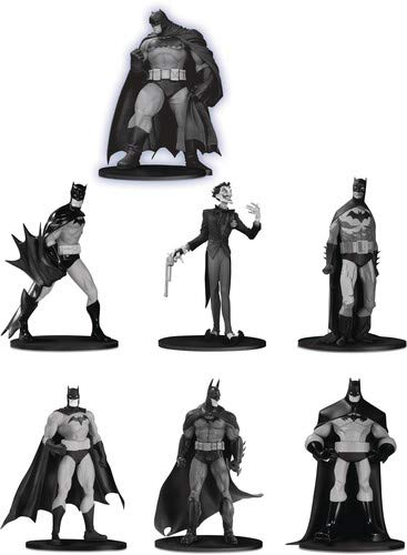 DC Collectibles Batman Black & White Mini Figure 7-Pack Box Set - Set Mini Collectibles