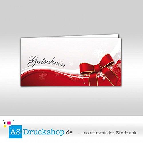 Gutschein Weihnachten   Restaurant - Schneeflocken   100 Stück   DIN Lang B0794ZHKVN | Bunt,