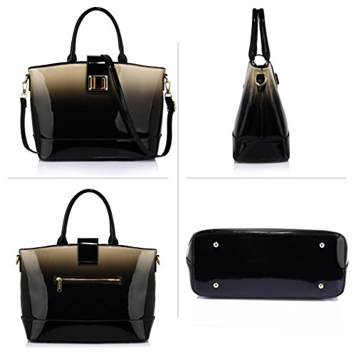Nice Patent apricot 329 Handbag Two Tote Shoulder Tone For Women Bags Bag LeahWard Ladies 4qZYwCC