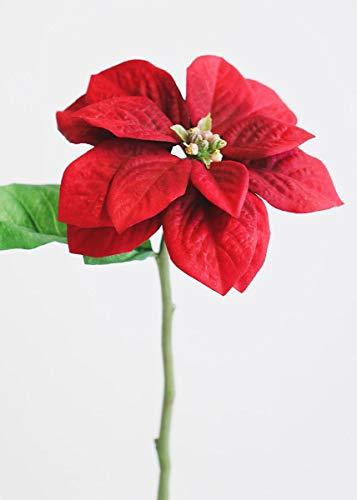 Red Artificial Garden Poinsettia - 13
