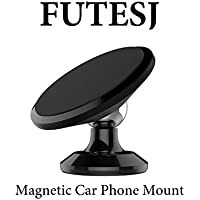 FUTESJ Magnetic Car Mount Phone Holder for Any Phones, iPhone 7 / 6 / 5 Galaxy S7 / S6 or GPS And One-piece Stylish Design And Strong Magnet,Black