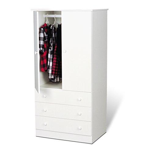 White Edenvale 3 Drawer Wardrobe