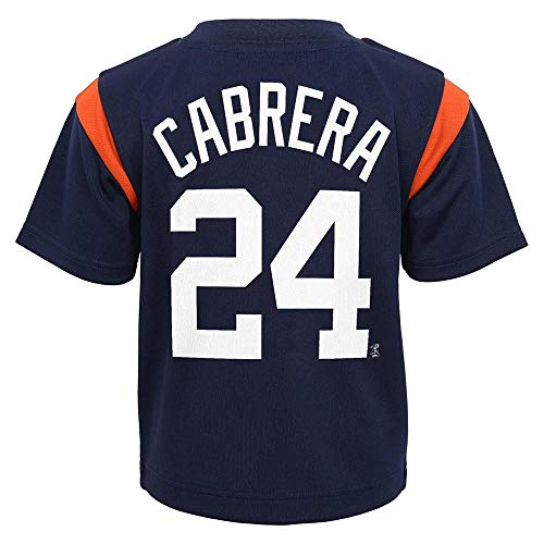 Outerstuff MLB Toddler 2T-4T Team Player Name and Number Jersey T-Shirt (3T, Miguel Cabrera Detroit Tigers)