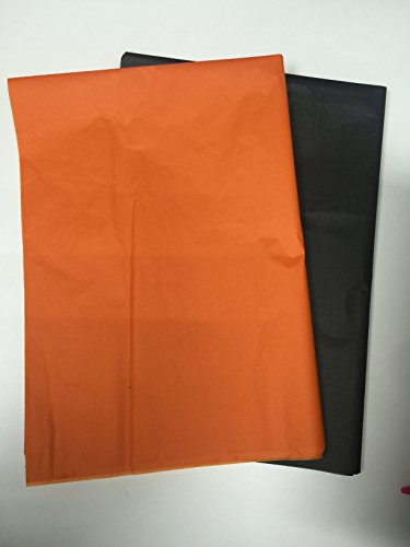 50 X Sheets Tissue Paper, Orange Black Halloween Colors, 20 X 27-inch