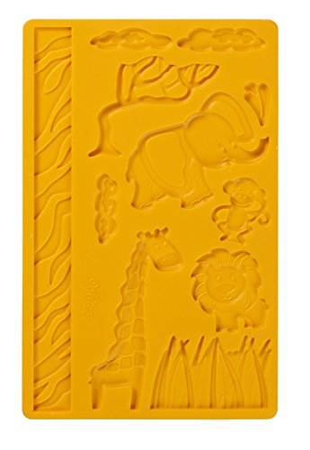 - Wilton Fondant and Gum Paste Silicone Mold, Jungle Animals