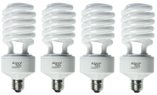 (ALZO 45W Joyous Light Full Spectrum CFL Light Bulb 5500K, 2800 Lumens, 120V, Pack of 4, Daylight White)