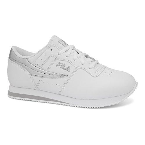 Fila Women's Machu Athletic Sneakers, White Mesh, Leather, 6 M