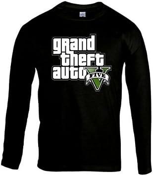 Mx Games Camiseta Grand Theft Auto 5 -Logo GTA- Manga Larga Negra (Talla: 11-12 años): Amazon.es: Juguetes y juegos
