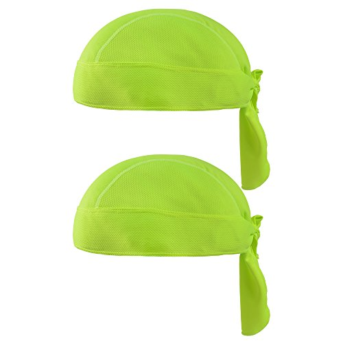 SUNLAND Cycling Bandana Dew Rags Doo Rags Adjustable Skull Cap Beanie Head Wrap