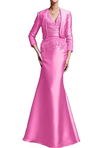 Etui Brautmutterkleid Ivydressing Neu Applikation 2017 Satin aermellos bodenlang Neck mit Bolero V Damen Pfirsisch Abendkleid Promkleid 7BtBxSrnEq