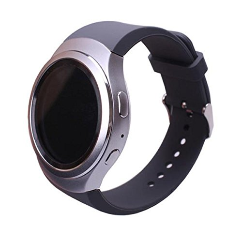 - BIYATE Accessories Sports Silicone Bands for Samsung Galaxy Gear S2 Smart Watch SM-R720 Black Women Men Large Small Replacement Strap Bands Bracelet for Samsung Galaxy Gear S2 22mm