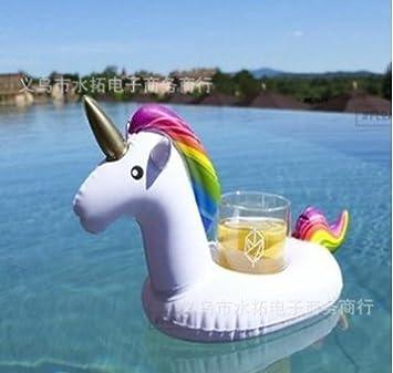 Hemore Portavasos Hinchable Flotadores de Bebidas para Piscina y diversión acuática Pool Flotador Bebidas Decoraciones para Niños y Adultos: Amazon.es: Deportes y aire libre