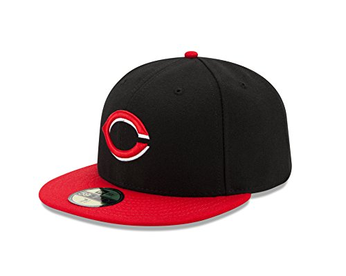 New Era MLB Cincinnati Reds Alternate Youth AC On Field 59Fifty Fitted (Black 59fifty Youth Fitted Cap)
