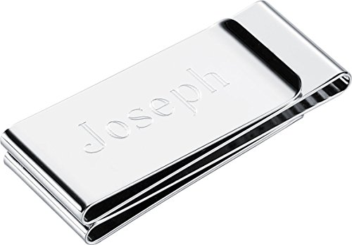 Personalized Visol Trifold Stainless Steel Money Clip with Free Engraving (Chrome) ()