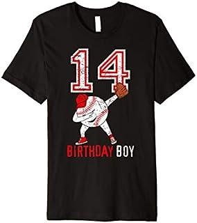 14th Birthday Gift 14 Years Old Baseball Boy Son Born 2005 Premium T-shirt | Size S - 5XL