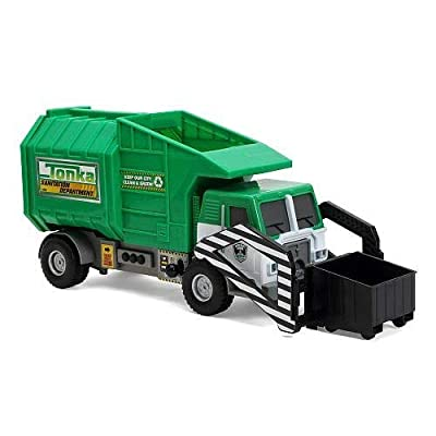 Tonka Mighty Motorized Vehicle - Front-Loader Garbage & Waste Department Truck (Green): Toys & Games