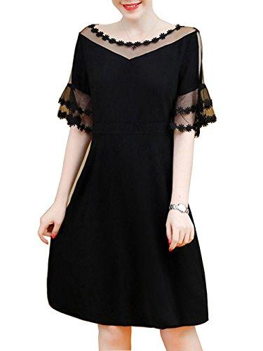 mini dress bell sleeves - 4