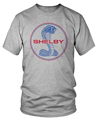 - Amdesco Men's Shelby Cobra Emblem T-Shirt, Heather Gray Medium