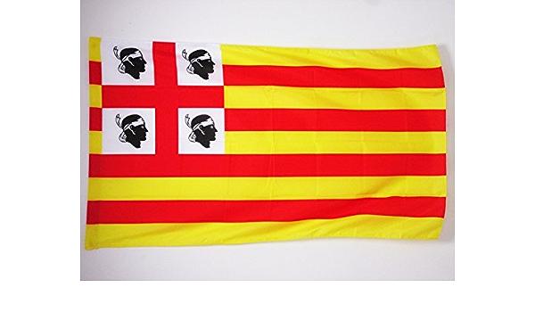 AZ FLAG Bandera de la Corona DE ARAGÓN EN CERDEÑA 90x60cm para Palo - Bandera SARDA 60 x 90 cm: Amazon.es: Jardín
