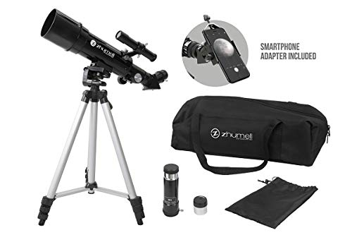 Zhumell Z60 Portable Refractor w Tripod, Phone Adapter & Carry Bag
