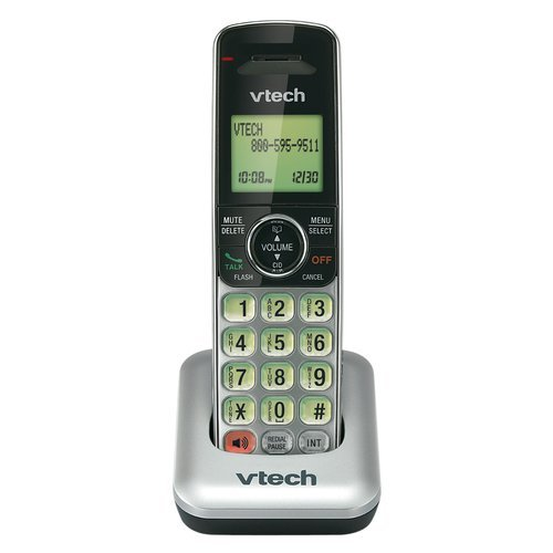 VTech CS6409 Accessory Cordless Handset for CS6419, CS6428 or CS6429 Series Cordless Phone Systems, Silver/Black by VTech