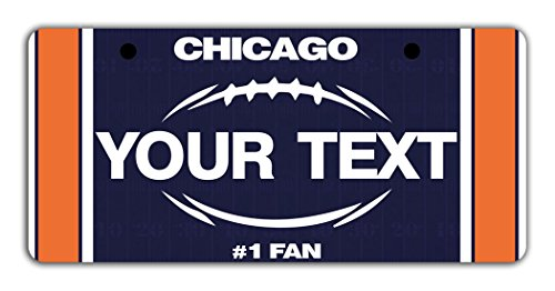 BleuReign(TM Personalized Custom Name Football Chicago Bicycle Bike Moped Golf Cart 3