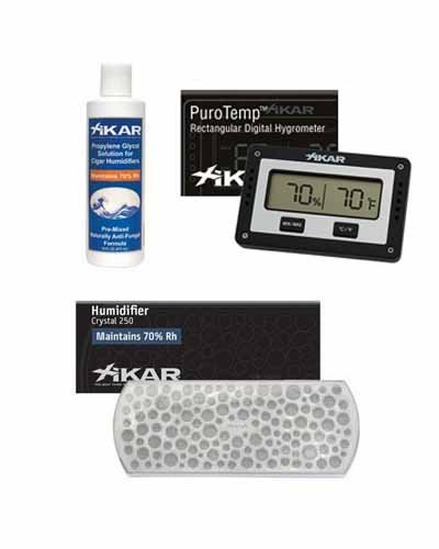 XiKAR Humidor Upgrade Kit 833 Hygrometer, 818 Humidifier and 815 PG Solution by Xikar