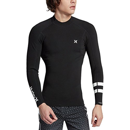 Hurley Advantage Plus LS Surf Jacket - Black - M (Wetsuit Hurley Top)