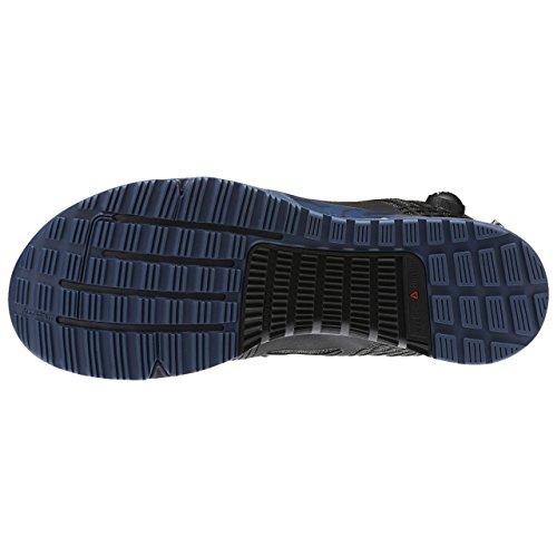 Reebok Nano Pump 2.0 - Zapatillas deportivas de CrossFit para hombre, negro/azul, 12,0 US - 45,5 UE
