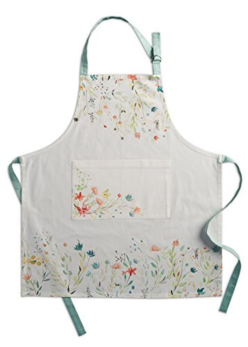 Maison d' Hermine Colmar 100% Cotton Apron with an adjustable neck & visible center pocket, 27.50 - inch by 31.50 - inch ()