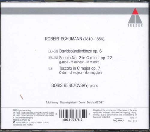 Schumann: Davidsbündlertänze; Piano Sonata, Op. 22; Toccata, Op. 7 by Warner Music France