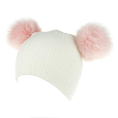 AWAYTR Baby Kids Toddler Warm Hat - Winter Wool Knit Thick Soft Stretch Beanie Cap