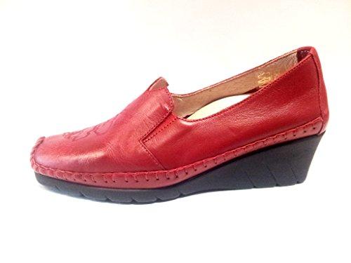 LUXAT modèle ongobi mocassin pour femme rouge