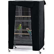 "Pets Product Universial Birdcage Cover-PONY DANCE Blackout & Breathable Birdcage Cover for Pets' Good Night,Small,Black, 21""L x 21""W x 28""H"