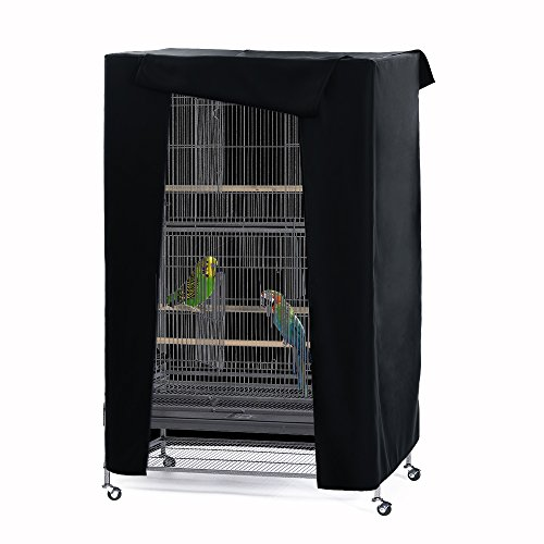 - PONY DANCE Pets Product Universial Birdcage Cover Blackout & Breathable Birdcage Cover for Pets' Good Night,Small,Black, 21