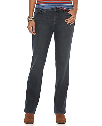 Chaps Women's Daniella Curvy Fit Straight Leg Jeans, Windham Wash (Chaps Jeans For Women)
