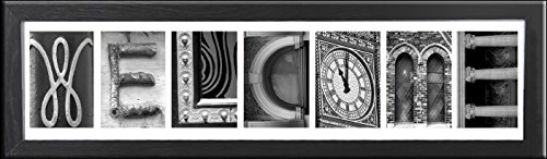 Imagine Letters 7-opening, White Matted Black Photo Colla...