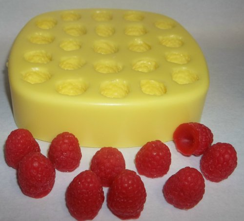 Raspberries Soap & Candle Mold - 23 Cavities by FlexibleMolds