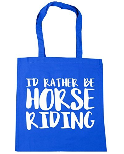 Shopping I'd Be HippoWarehouse Cornflower Horse 42cm x38cm Rather 10 Gym Bag Blue Beach litres Riding Tote qCgddYpwx