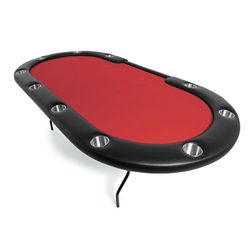 BBO Poker Aces Pro Folding Poker Table for 10 Players, 96-Inch Oval
