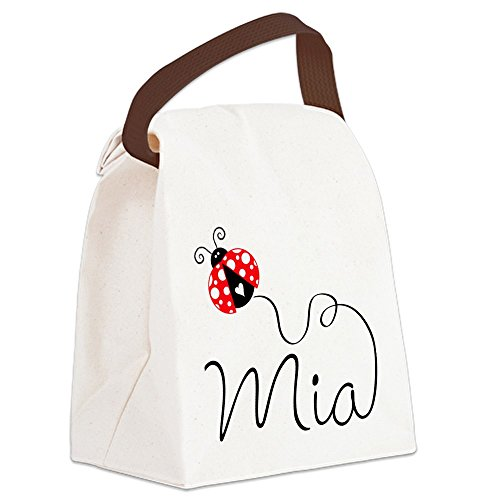 CafePress - Ladybug Mia Canvas Lunch Bag - Canvas Lunch Bag with Strap Handle