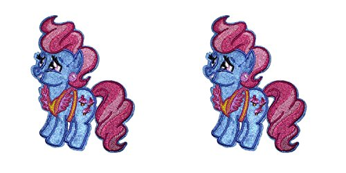 Application Cartoon Classic My Little Pony Mrs. Cup Cake Cosplay Badge Embroidered Iron or Sewn-On Applique Patch 2-Pack Gift (Mrs Jason Halloween Costume)