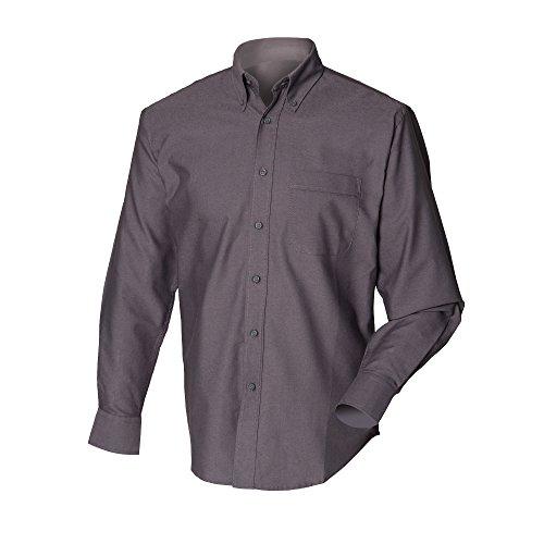 Lavoro Da Henbury Uomo Lunga Camicia Nero Manica 76ZgZ0Ewqf