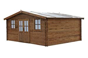 Chalet & Jardin–Caseta de jardín (madera tratada 28mm cardo 19.2M2Chalet & jardín