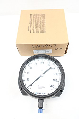 Ashcroft 60-1379-AS-02L-200# DURAGAUGE Pressure Gauge 0-200PSI 1/4IN D614072