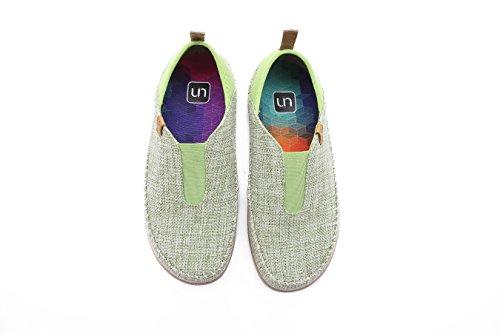 UIN Womens Torres Casual Linen Slip-On Shoes Green fWGTPCE6E