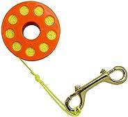 Scuba Choice Diving Orange Compact Finger Spool 100' Dive Reel, Yellow