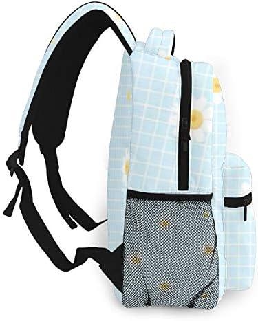 素敵なデイジー柄 バックパック リュック メンズ レディース 学生 男女兼用 防水 アウトドア カジュアル デイパック 多機能 収納 通勤 通学