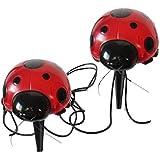 Smart Solar 3656MRM4 Ladybug Solar 4-Pack Red Light Set